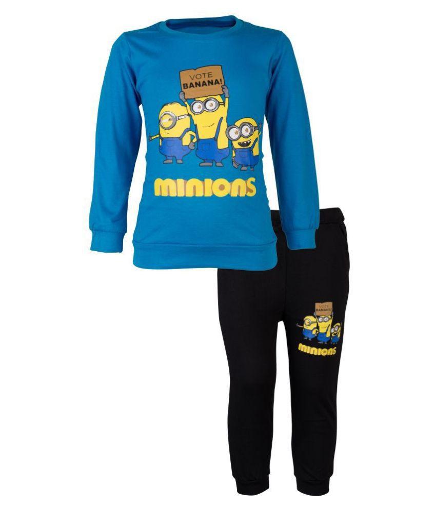 CATCUB Kids Minions Top & Pant Set (Blue)