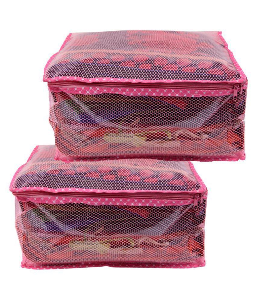 RAJA Pink Saree Covers - 2 Pcs