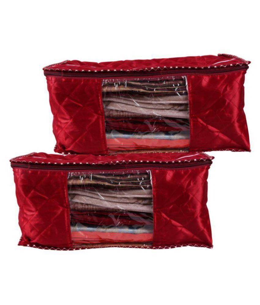 RAJA Red Saree Covers - 2 Pcs