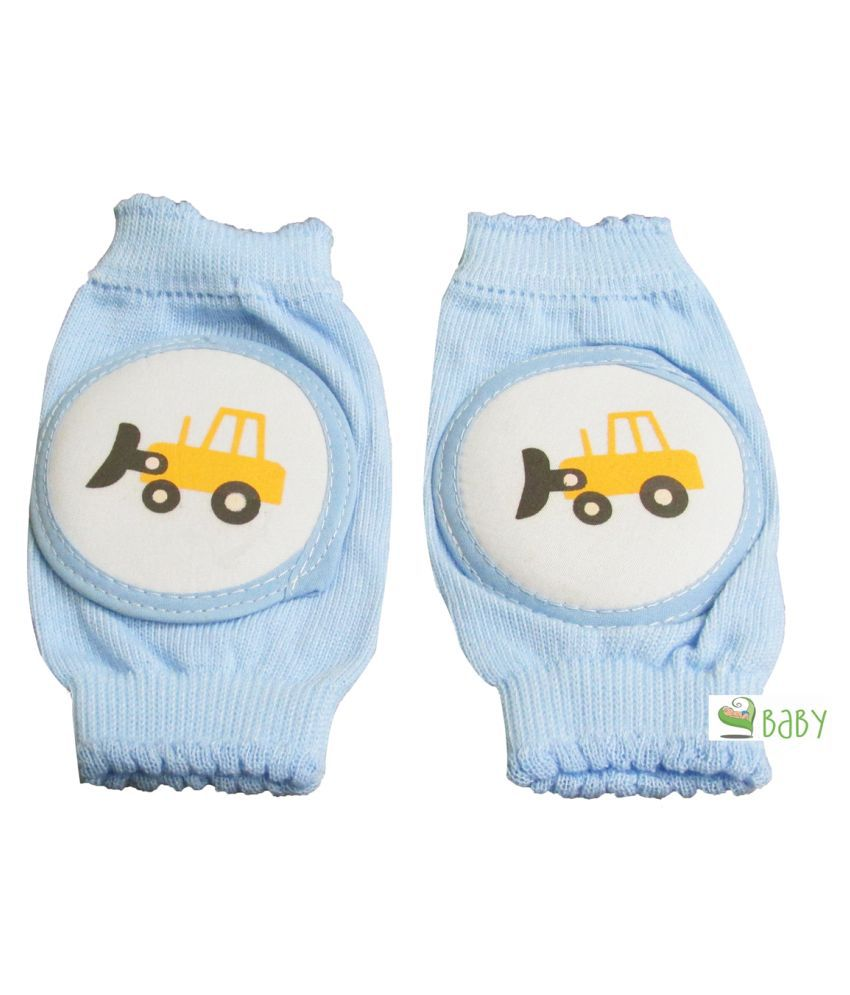 VBaby Blue Coton Baby Knee Pad 1 pcs