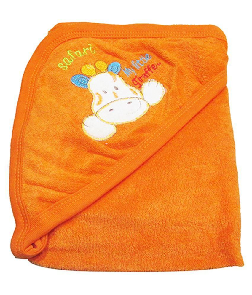 VBaby Orange Fleece Baby Blanket ( 73 cm × 73 cm- 1 pcs)