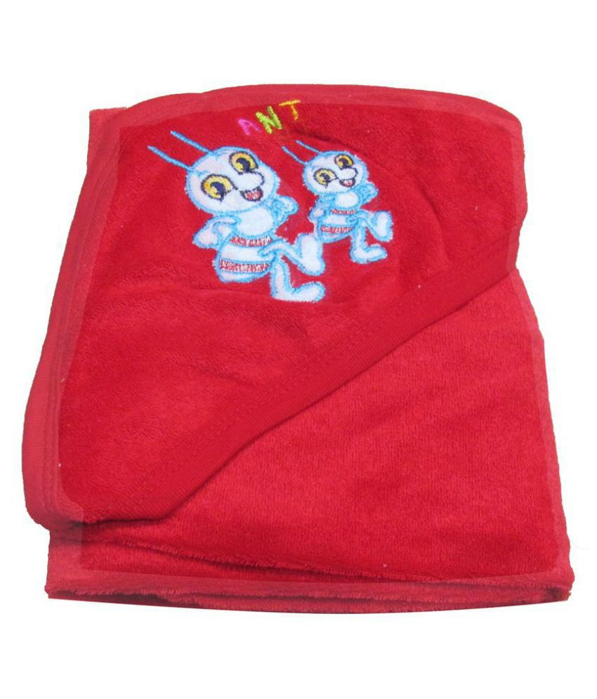 VBaby Red Fleece Baby Blanket ( 73 cm × 73 cm- 1 pcs)