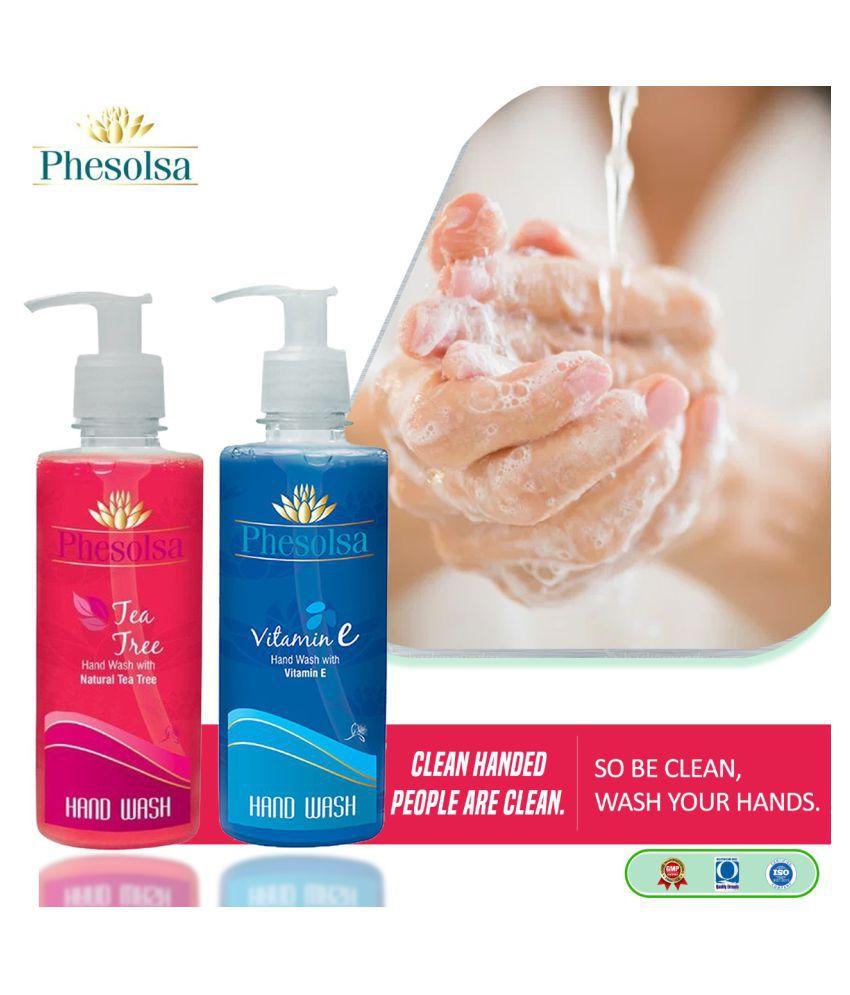 Phesolsa Tea Tree and Vitamin E Combo Hand Wash 1000 mL Pack of 2