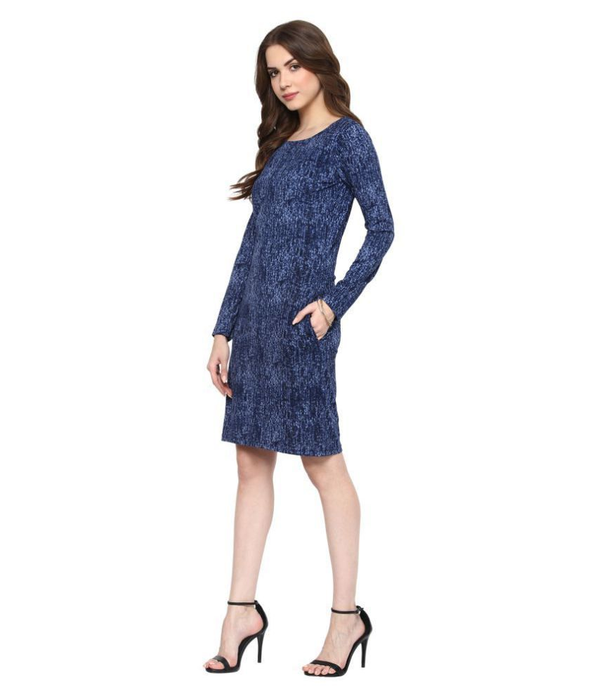KAPOOR BROTHERS Cotton Blue Sheath Dress