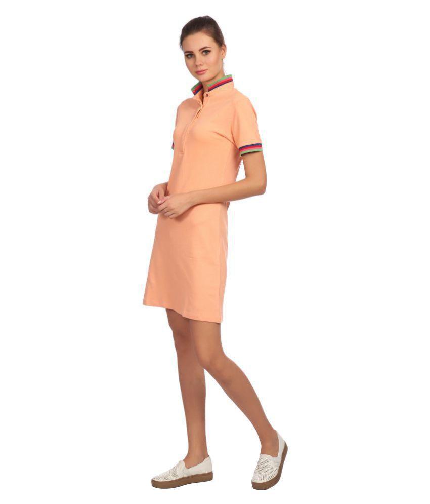 KAPOOR BROTHERS Cotton Peach Regular Dress