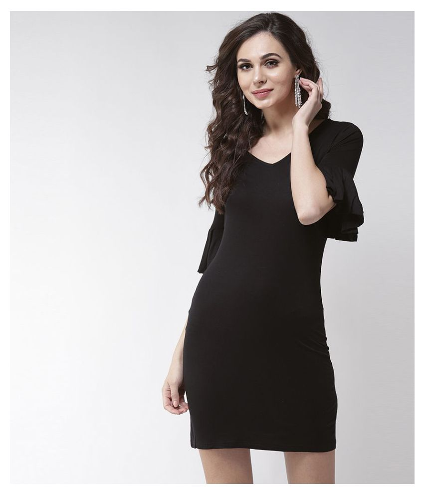 La Zoire Cotton Black Regular Dress