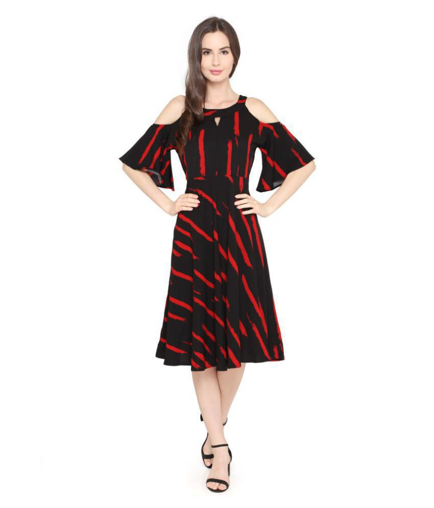 P Nut Casuals Polyester Multi Color Regular Dress