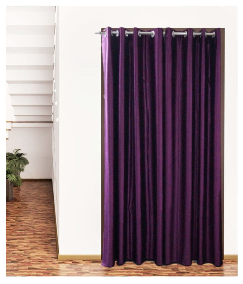 Snuggle Set of 2 Door Eyelet Polyester Curtains Purple