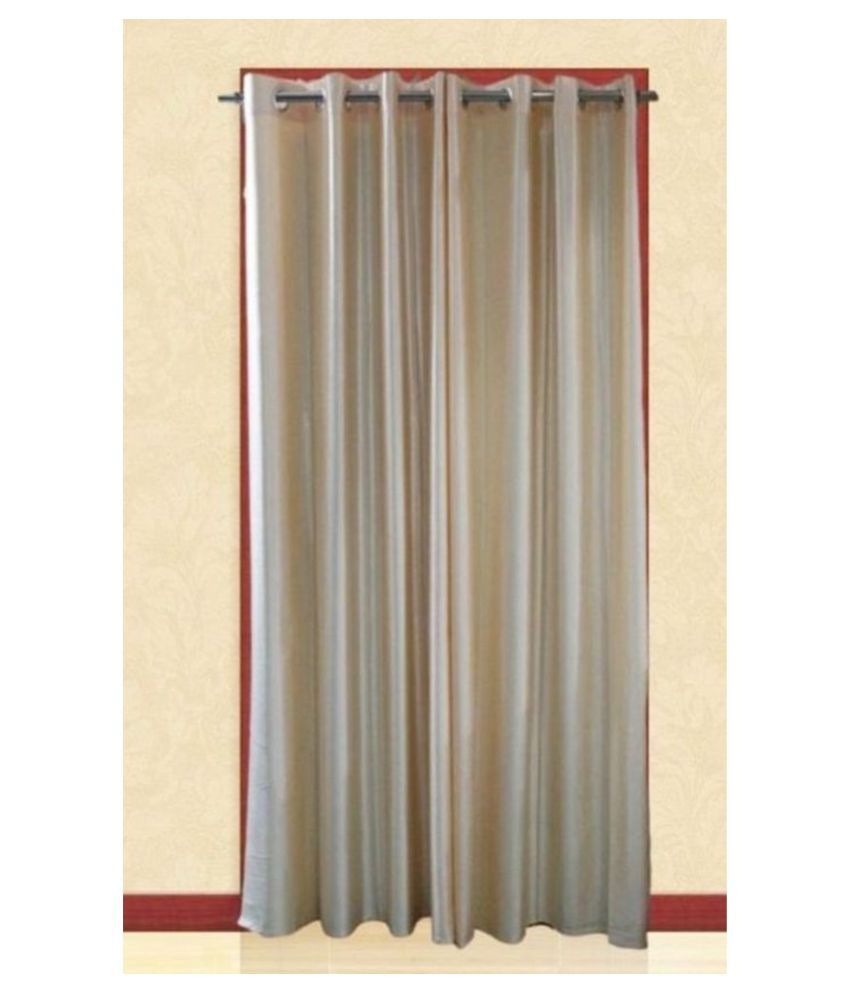 Snuggle Set of 2 Door Eyelet Polyester Curtains Cream