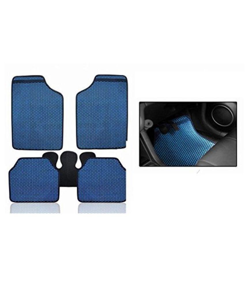 Autofetch Car Eclipse Odourless Floor/Foot Mats (Set of 5) Blue for Hyundai i10 (2007-2015)