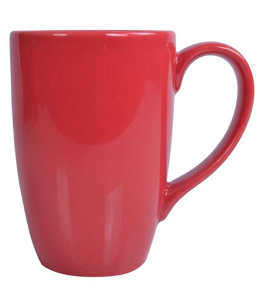 Mirakii Coffee and Milk Porcelain Coffee Mug 1 Pcs 300 mL