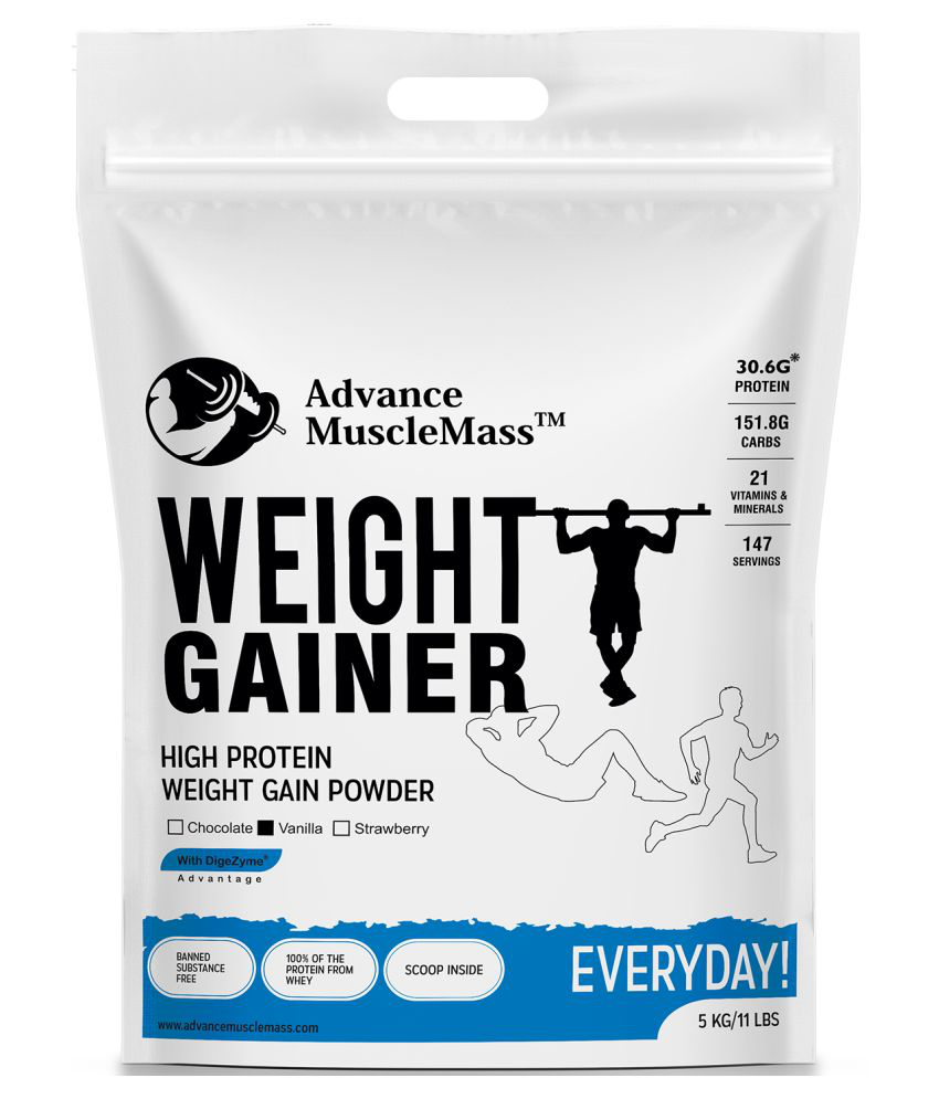 Advance MuscleMass Weight Gainer with  Digestive Enzymes Blend 5 kg Weight Gainer Powder