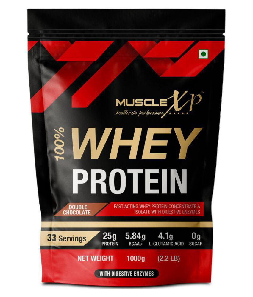 MuscleXP 100% Whey Protein With Digestive Enzyme 1 kg