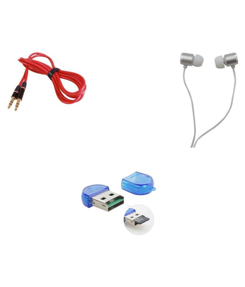 minifox 2 Multicolour 2.0 Card Reader  Vh130 Wired Earphone, Aux