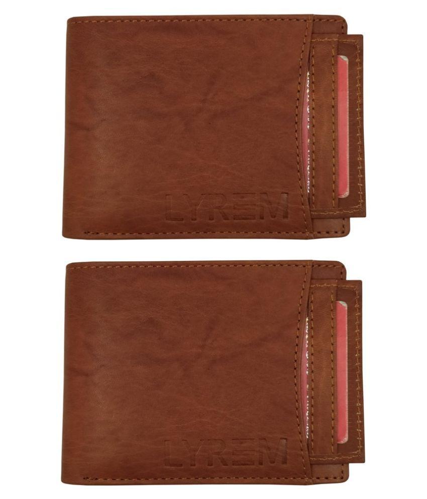 LYREM Leather Brown Fashion Regular Wallet
