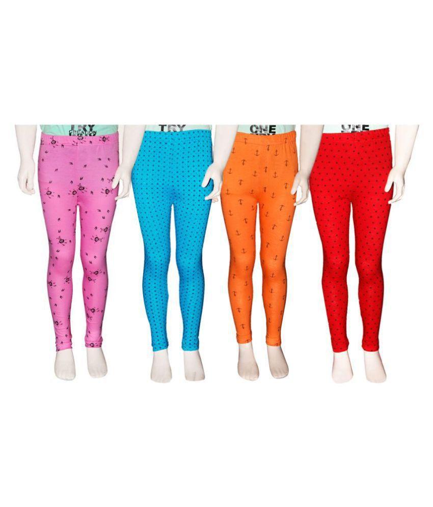 Fnme Printed Girls Leggings  Pack of 4