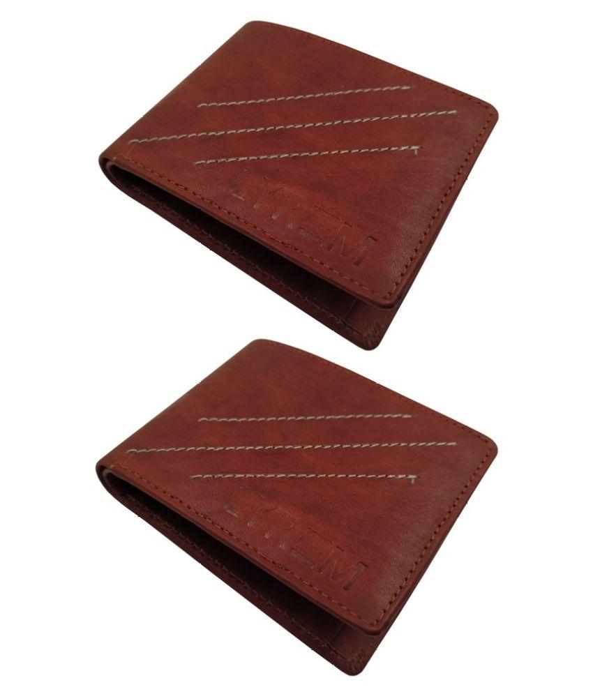 LYREM Leather Brown Sport Regular Wallet