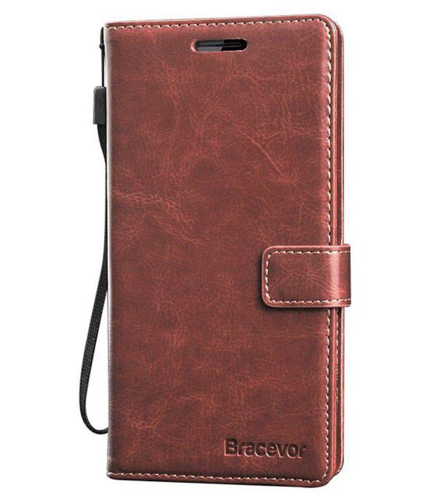 OnePlus 2 Flip Cover by Bracevor - Brown