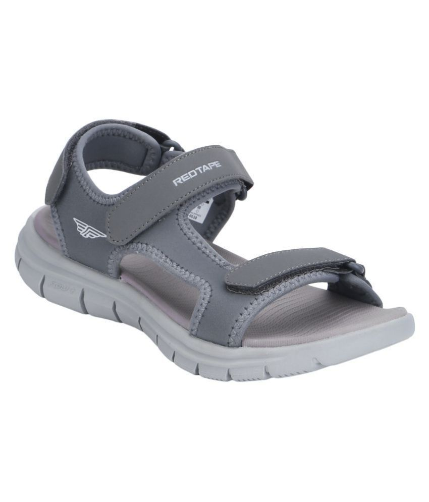 Red Tape Gray Textile Floater Sandals