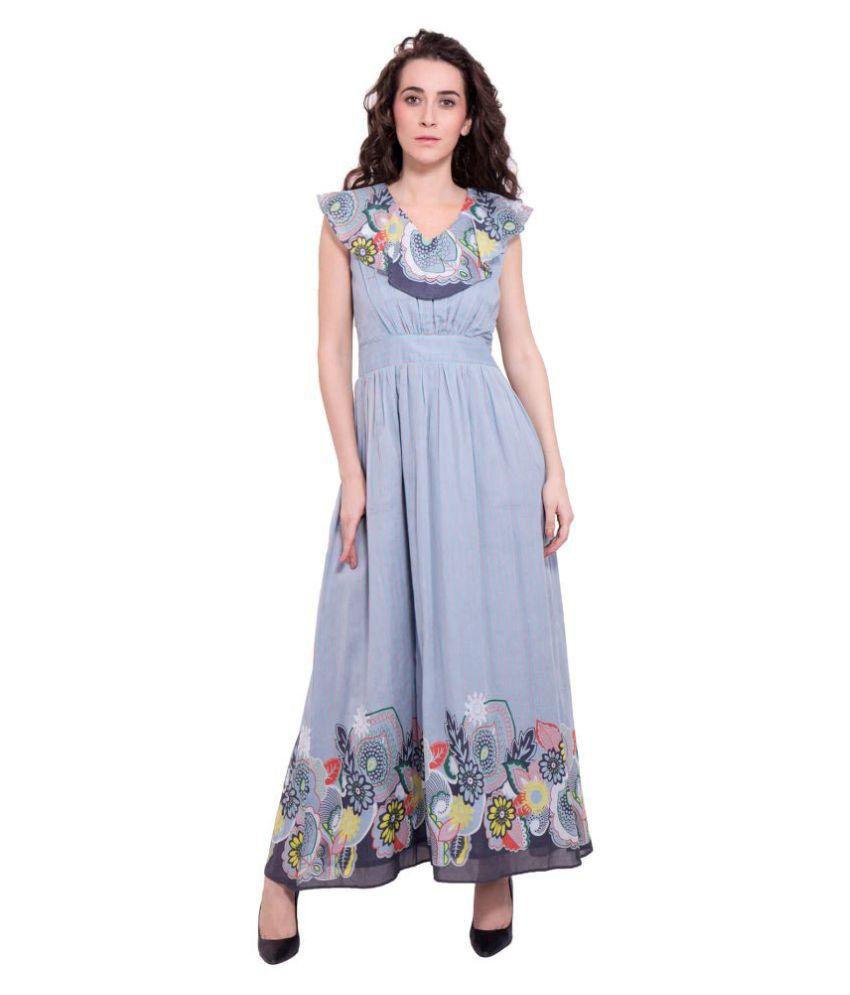9teenAGAIN Rayon Grey Asymmetric dress