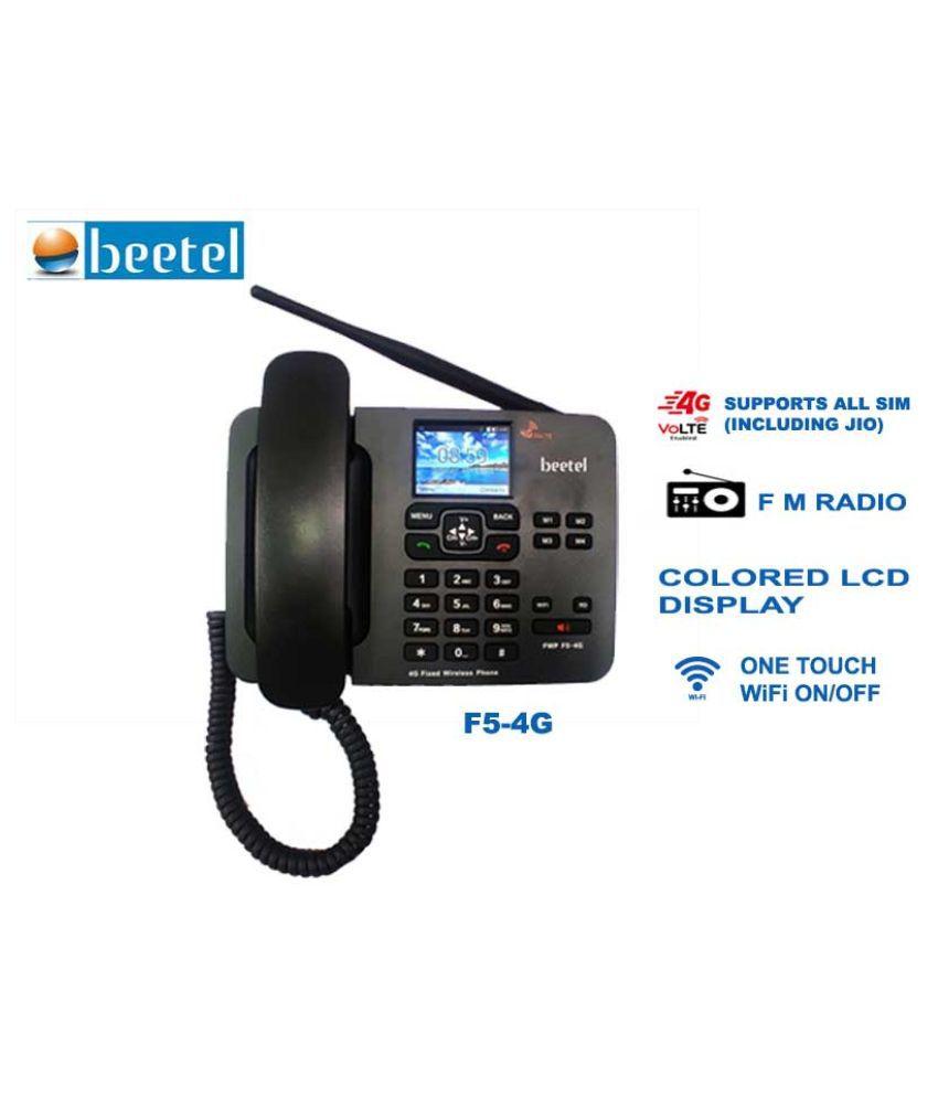 Beetel F5-4G Wireless GSM Landline Phone ( Black )