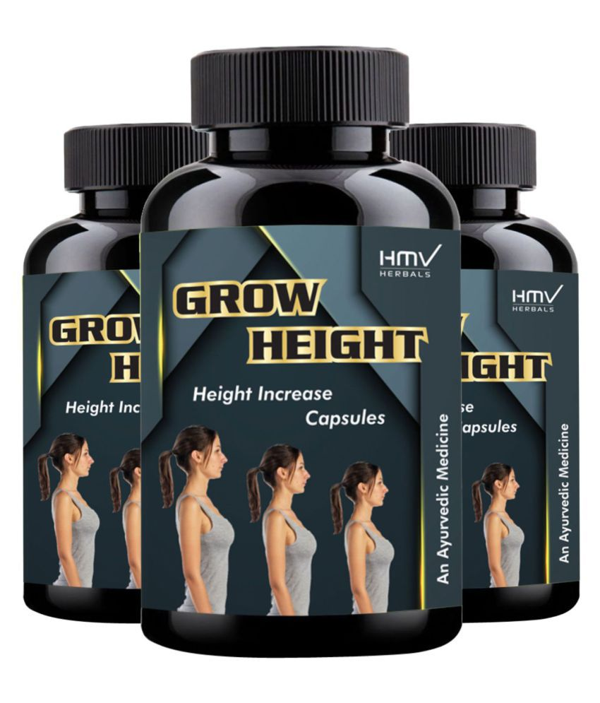 HMV Herbals Grow Height Herbal Height Growth Capsule 90 no.s Pack of 3