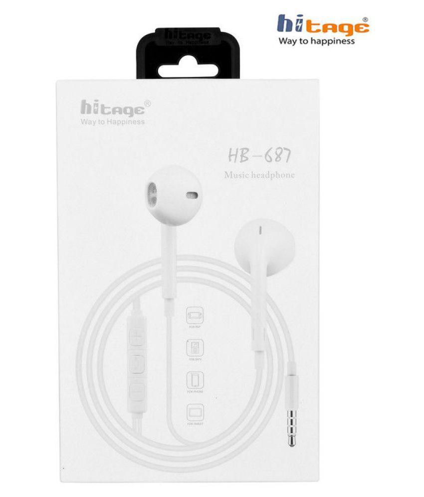 hitage HP 687 Music Headphone In Ear Wired With Mic Headphones/Earphones