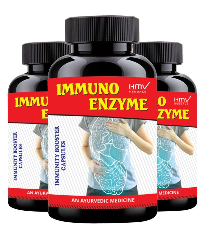 HMV Herbals Immuno Enzyme Herbal Immunity Booster Capsule 90 no.s Pack of 3