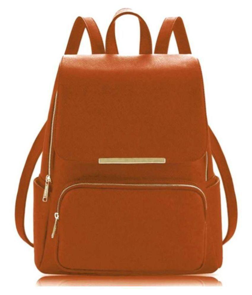 Parrk Gold P.U. Backpack