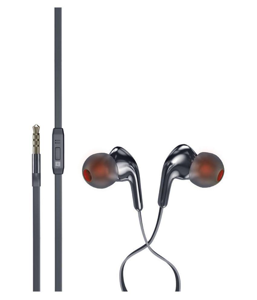 iBall EarwearGem Black On Ear Wired With Mic Headphones/Earphones