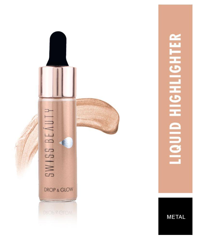 Swiss Beauty Liquid Highlighter (Shade-Metal), 18ml