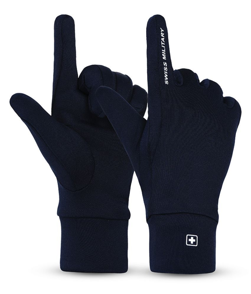Swiss Military Scuba material water -repellent Small Size Washable hand Gloves
