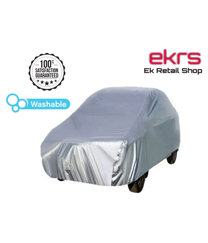 EKRS Silver Matty DUST PROOF Car Body Cover / Car Cover For Maruti Baleno 1.2 Zeta with Triple Stitching & Light Weight