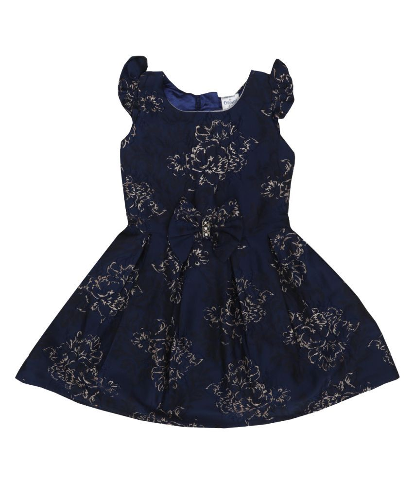 Doodle Jacquard A-Line Dress With Cap Sleeve