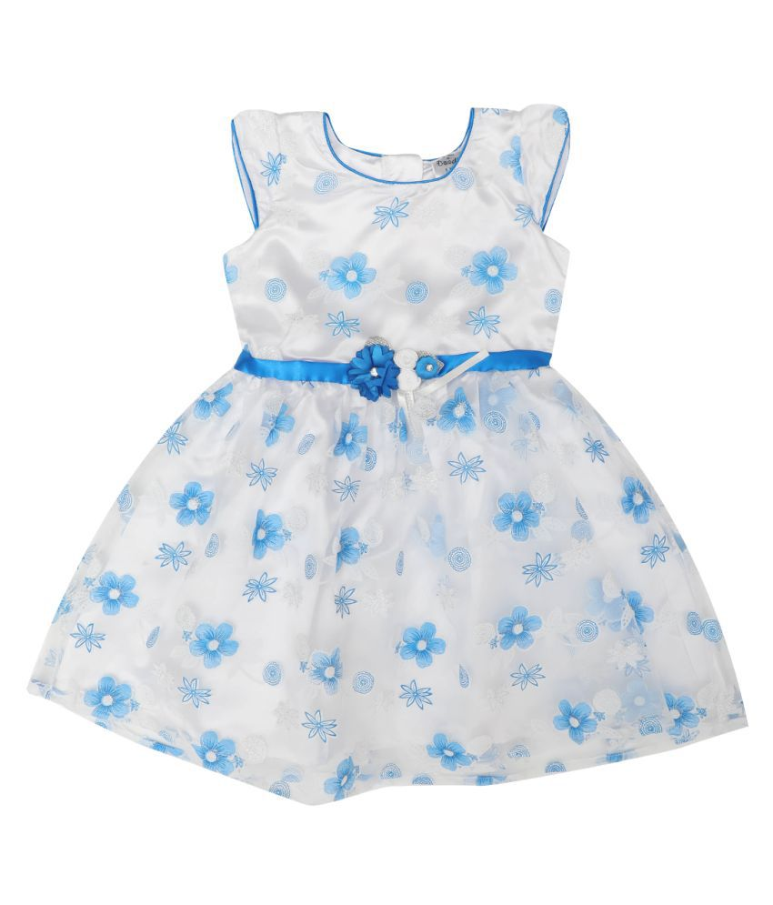 Doodle Tissue A-Line Dress With Cap Sleeve