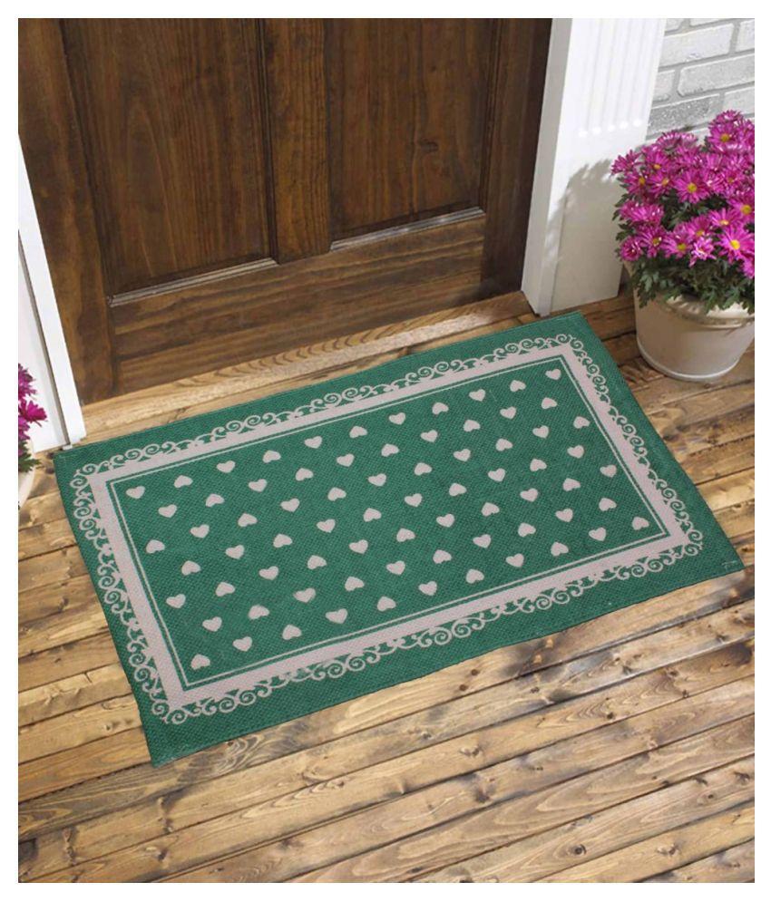 Fashion Art Green Single Floor Mat