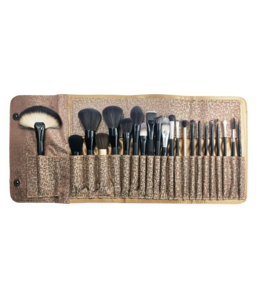 GlamGals HOLLYWOOD-U.S.A 22 Pieces Makeup Brush Set with Bag Synthetic 450 g 22 Pcs