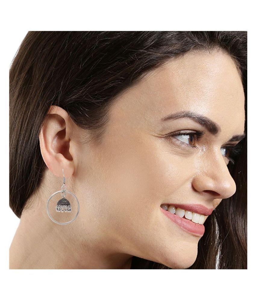 Kord Store Incredible Round Wire Matt Finish Jhumki Earring For Women