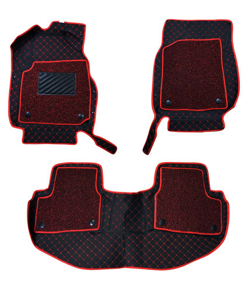 WIINE Leatherite 7D Car Mats For M.BENZ -S-450 2019 (Red)