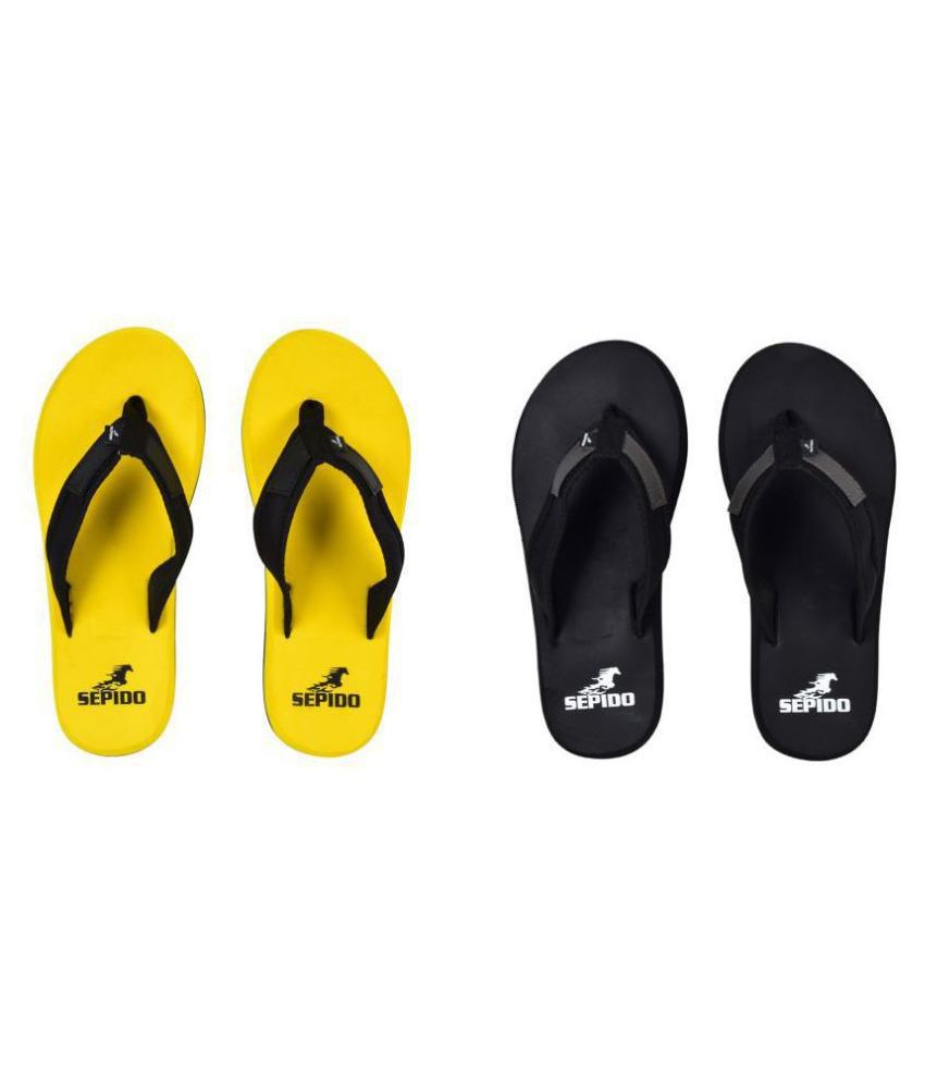 sepido Black Daily Slippers