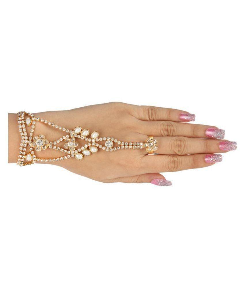 Kord Store Crystal Stone Glittering Ring Bracelet for Women and Girls