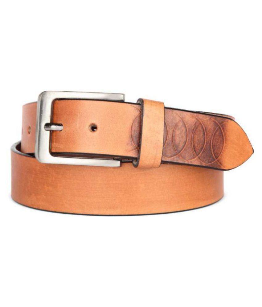 U+N Brown Leather Formal Belt
