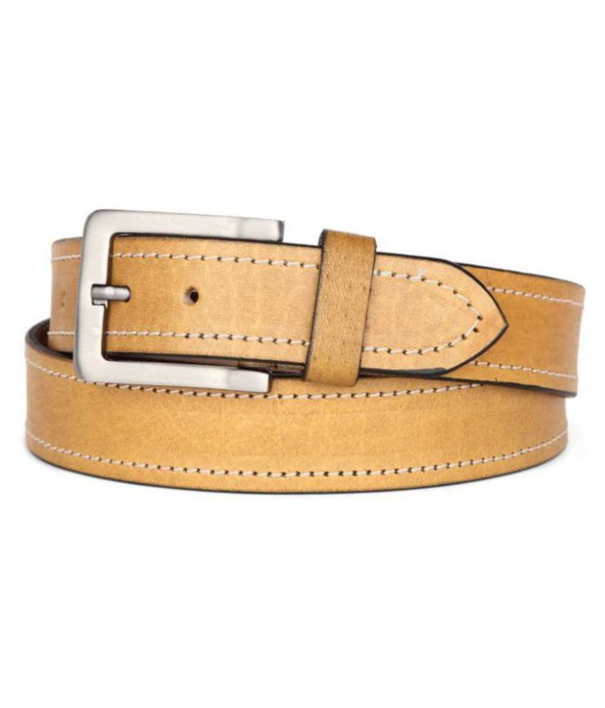 U+N Tan Leather Formal Belt
