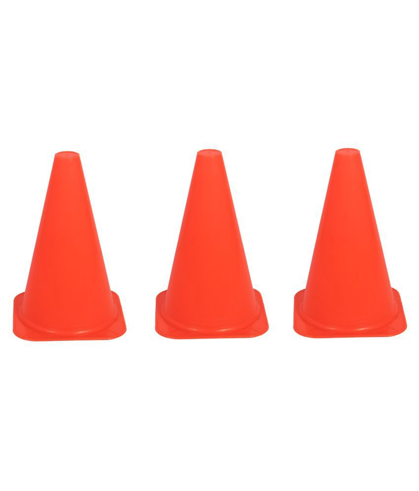 Vikas Sports Cone Marker/ Space Marker Pack of 3 (Orange, 9 Inch)
