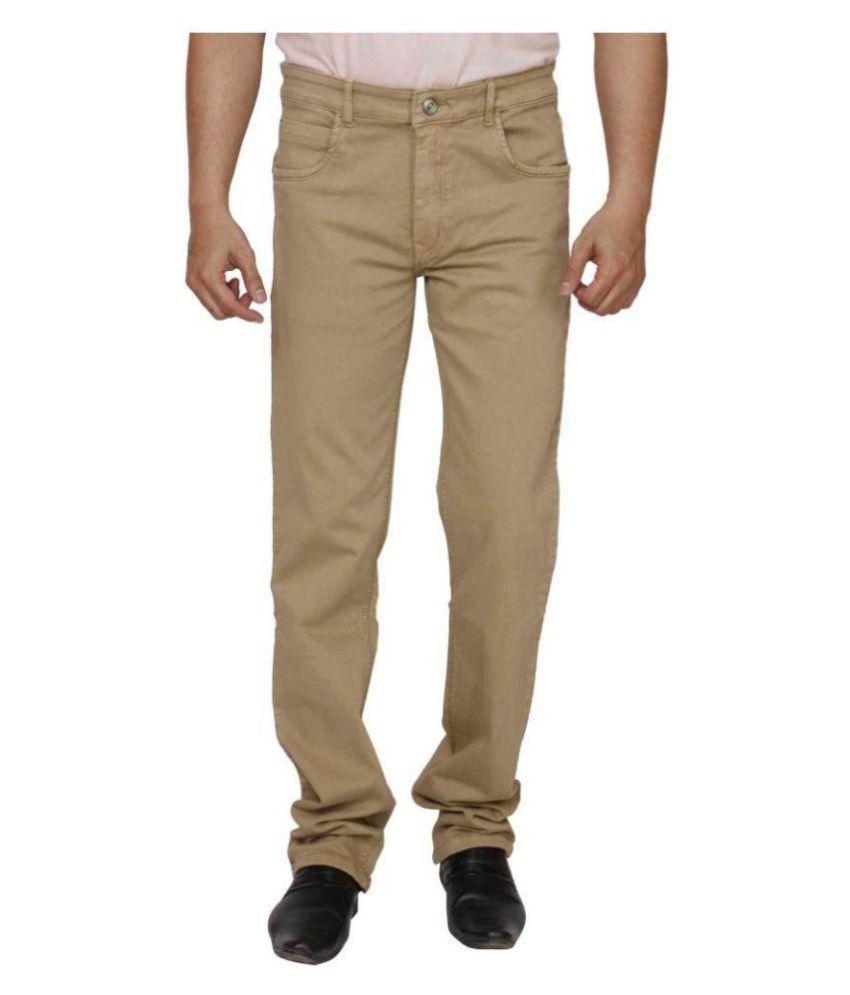 PRANKSTER Khaki Slim Jeans