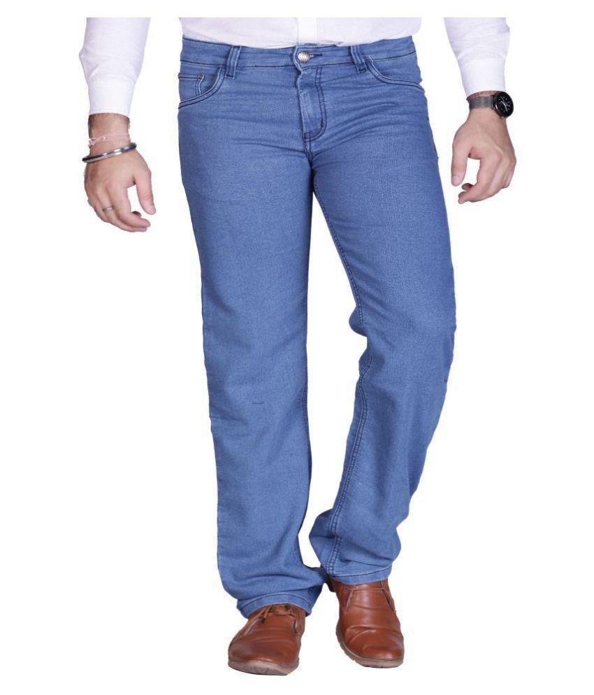 PRANKSTER Light Blue Regular Fit Jeans