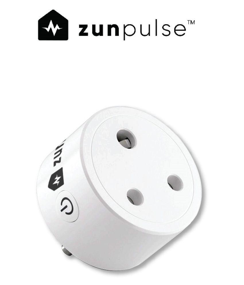 zunpulse WiFi Enabled Round 16A 220V-250V Smart Plug