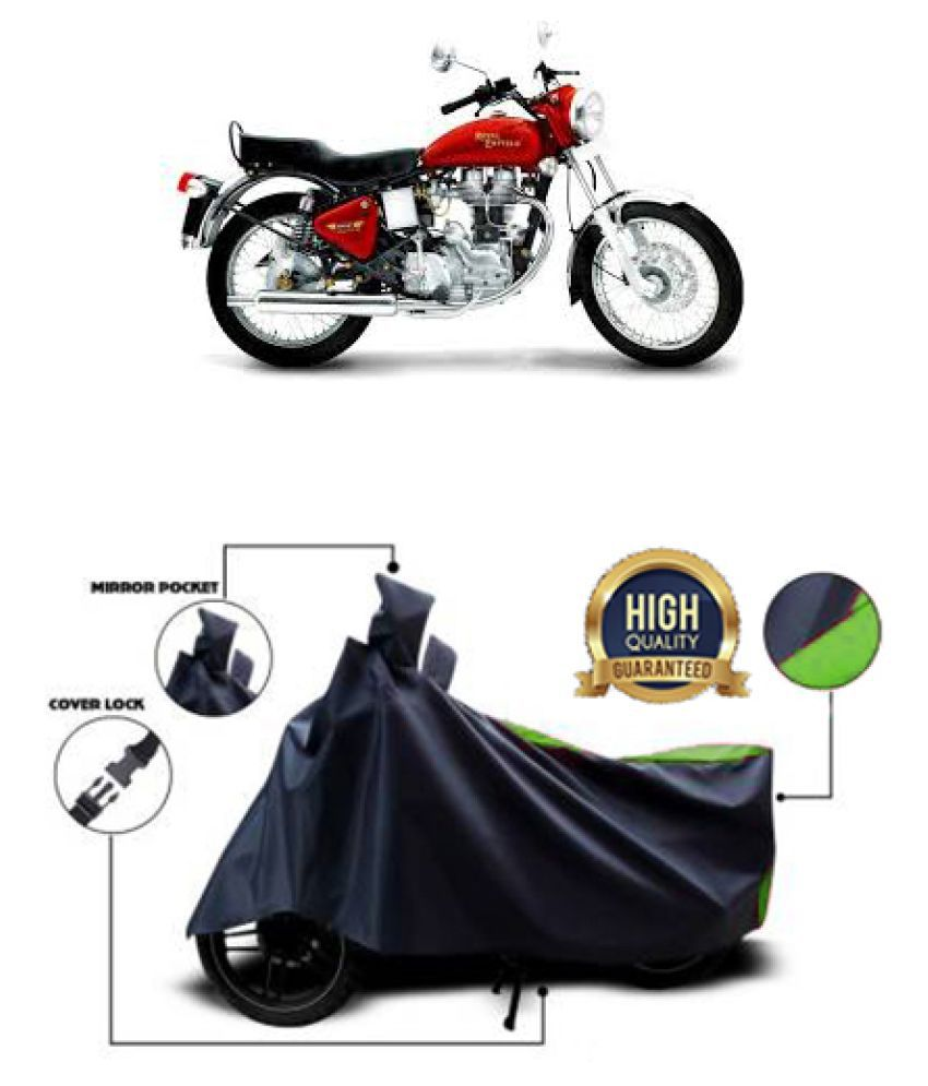 Motohunk two wheeler cover for Royal Enfield Electra 5S (Green, Black)