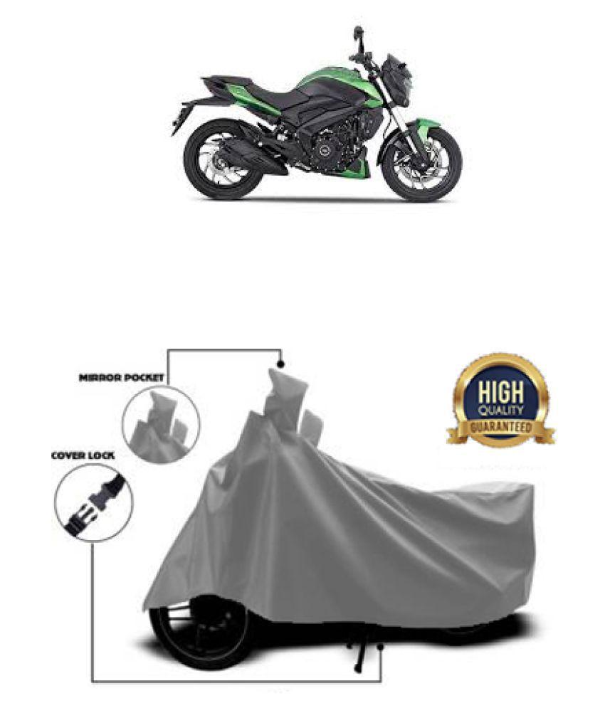 Motohunk two wheeler cover for Bajaj Dominar 400 Grey