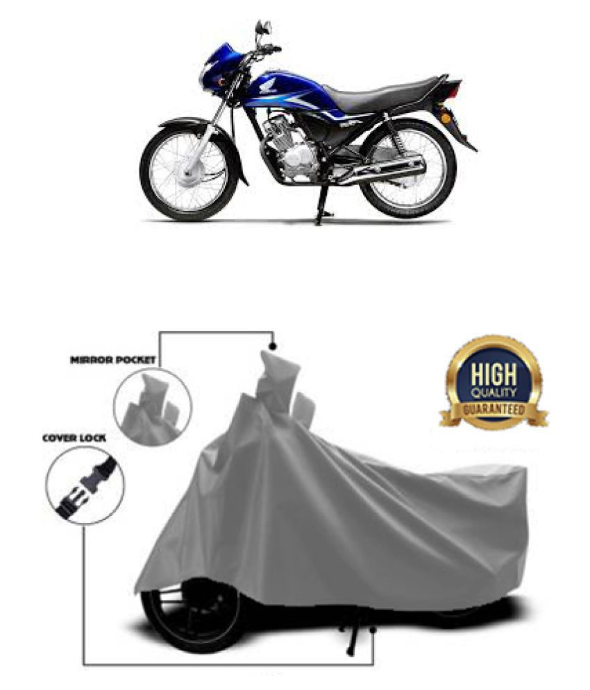Motohunk two wheeler cover for Honda CB 125 Grey
